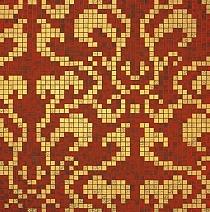 Glass mosaic Damasco  Rosso Oro