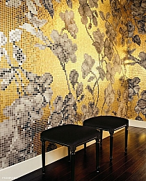 Glass mosaic Hanami  gold