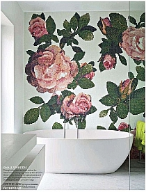 Mozaika szklana Springrose Bianco Brown