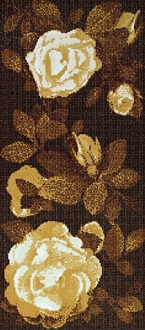 Glass mosaic Springrose Bianco Brown