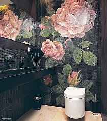 Mozaika szklana Springrose Nero