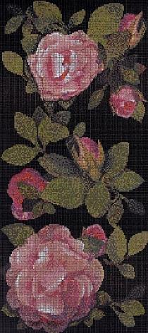 Glass mosaic Springrose Nero