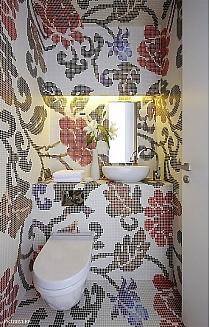 Mozaika szklana Summer flowers red biała+czerwona