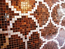 Glass mosaic Liaisons brown