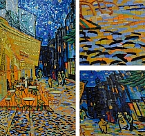 Glass mosaic Van Gogh Cafe Terrace at Night