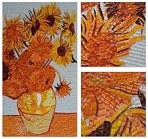 Glass mosaic Van Gogh Sunflowers
