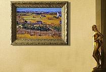 Glass mosaic Van Gogh Wheat Field
