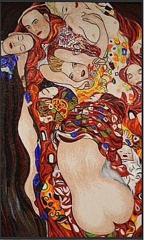 Obraz z mozaiki szklanej Pocałunek (obraz Gustava Klimta)