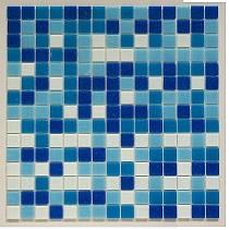 Mozaika szklana niebieska + biała mix CM311/20