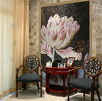 Luxury glass mosaic FLOWER COLOR