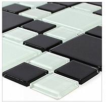 Mozaika Szklana E42 Czarna+Biała