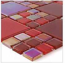 Mozaika Szklana E 43 Lazurowa czerwona