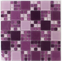 glass mosaic E44 Violet heather