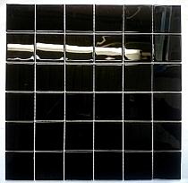 Mozaika Szklana Czarna K201 - Wysoki połysk