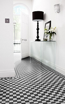 Crystal Glass mosaic Black and white Km207