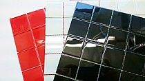 Crystal Glass mosaic Red K202