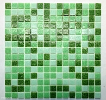 Glass mosaic Green mix DM410/20