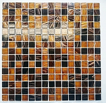 Glass Mosaic Brown+Gold  KMC06  seria B