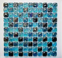 A03 Buble cube dah Mozaika szklana Turkusowa