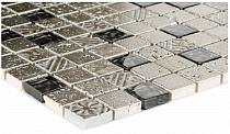 Mozaika Kamienno Szklana Srebrna Silver AZTEC   A53  wzorowana na BARWOLF