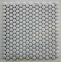 Mozaika ceramiczna  BIAŁA GUZIKOWA kułka  2 cm Loop  POŁYSK / WEISS