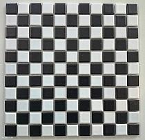 Mozaika Ceramiczna Czarno - Biała Szachownica SCHWARZ-WEISS