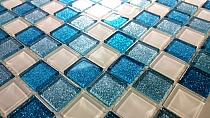 Gold Glitter Glass mosaic MIX  BM130