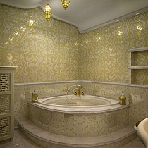 Glass mosaic Damasco Oro Giallo GOLD