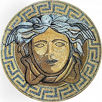 Mozaika szklana wzór Versace