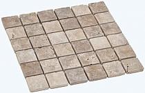 Mozaika kamienna Trawertyn Classic 4,8x4,8 MAR-FM-159 antykowany