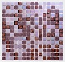 Mozaika Szklana Fioletowa+Perłowa+ złota  KMC03