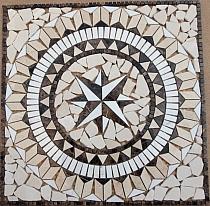 Mozaika kamienna Mozaika Medallion Kompas 1x60x60, polerowany