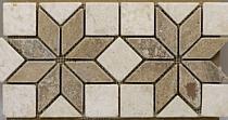 Mozaika kamienna Trawertyn Midas Brown Fryz FB-24 1x16,7x33,5, antykowany