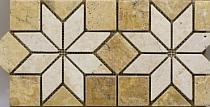 Mozaika kamienna Trawertyn Golden Sienna Fryz FB-45 wymiary 1x17,5x35,5 wykończenie antykowany