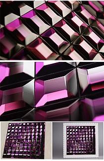 Mozaika szklana brokatowa fioletowa + diamentowa mix