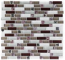 Mozaika szklano-kamienna Euro 315    SZARO-BIAŁO-FIOLETOWA