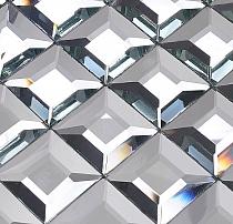 Mozaika Szklana Diamentowa SREBRNA A121 z fugą