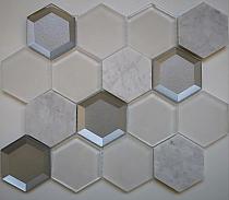 Mozaika Kamienno Szklana MAR 01 hexagon