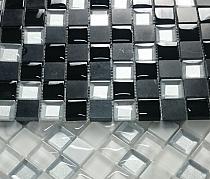 Mozaika Kamienno Szklana MAR 03 Diament czarny