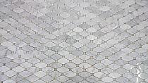 Biały marmur Carrara octagon Mozaika kamienna hexa Diament Mar 04