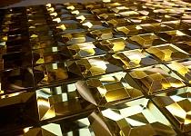 Mozaika Szklana  Diamentowa Złota A113 z fugą