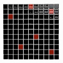 Mozaika szklana  czarna+czerwona mix AM123