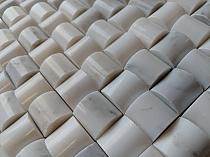 Mozaika kamienna G01 biała 3D