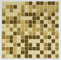 Mozaika szklana  brązowa mix BM211