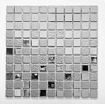 Mozaika Szklana Srebrna A115 super połysk