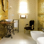 Mozaika Szklana Złota A116 super połysk
