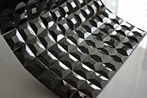 Mozaika Szklana  Diamentowa Czarna A112 z fugą