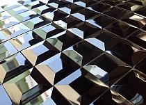 Mozaika Szklana  Diamentowa Czarna A112 BEZFUGOWA