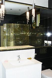 Mozaika Szklana  Diamentowa Złota A113  Bezfugowa