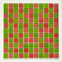Mozaika Szklana Różowa+Zielona mix KM102